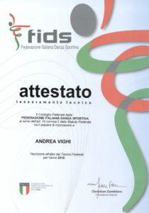 Andrea Vighi FIDS Tecnico Federale