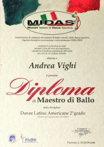 Maestro di danza sportiva ballo FIDS MIDAS Danze Latino Americane Andrea Vighi