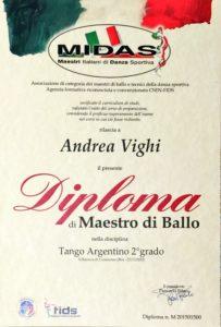 Maestro di danza sportiva ballo FIDS MIDAS Tango Argentino Andrea Vighi