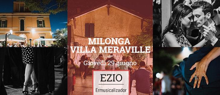 Tango Meraville – milonga estiva gratuita a Bologna – 29 giugno 2017
