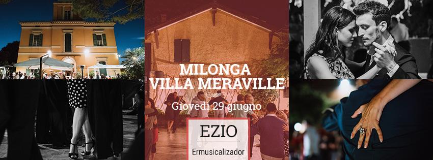 Milonga Meraville Estiva a Bologna 29 giugno Ezio Ermusicalizador - Tango Meraville - Milonga estiva a Bologna