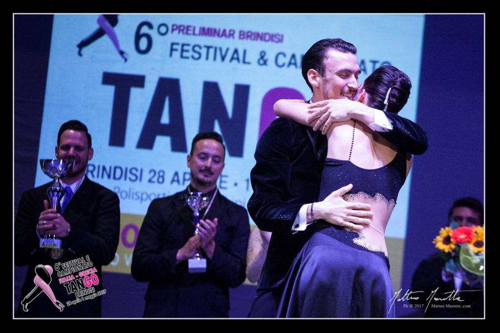 Andrea Vighi y Chiara benati vincitori 6 preliminar Brindisi Campionato Italiano Tango