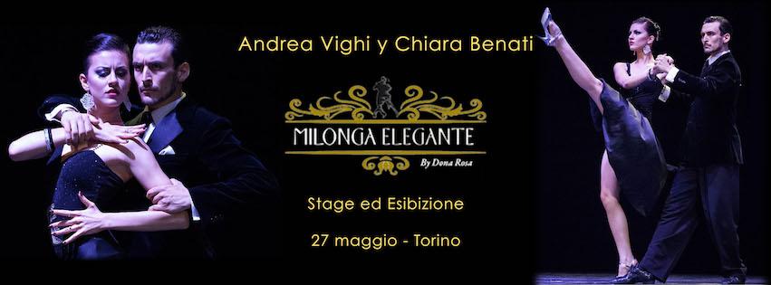 stage ed esibizione a Torino alla Milonga Elegante conAndrea Vighi y Chiara Benati