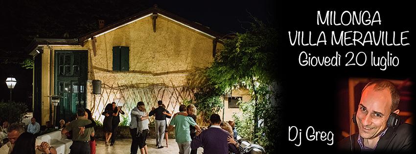 Milonga Meraville Estiva a Bologna 20 luglio Dj Greg - Tango Meraville - Milonga estiva gratuita a Bologna
