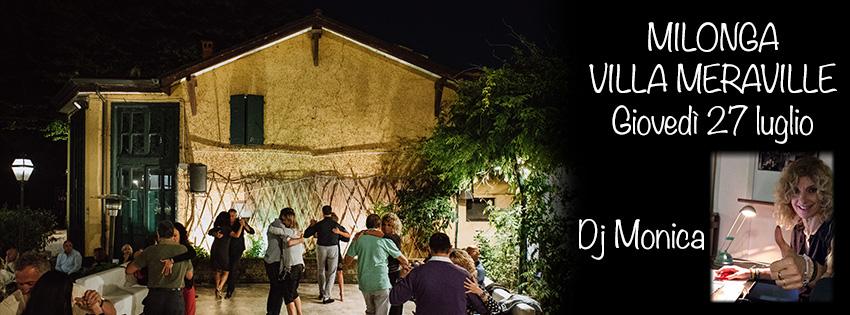 Milonga Meraville Estiva a Bologna 27 luglio Dj Monica - Tango Meraville - Milonga estiva gratuita a Bologna