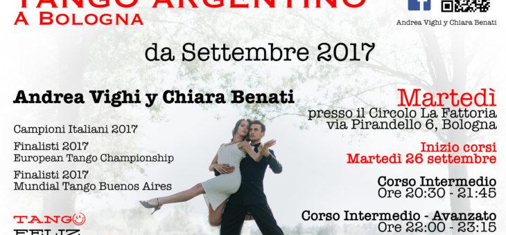 Corsi di tango alla Fattoria di Bologna da Martedì 26 settembre 2017