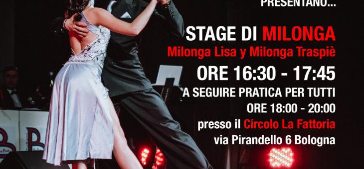 Stage Milonga e pratica alla Fattoria – domenica 3 dicembre 2017