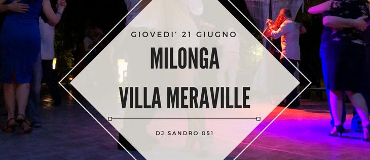 Tango Meraville – Milonga estiva a Bologna – 21 giugno 2018