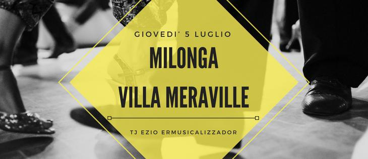 Tango Meraville – Milonga estiva a Bologna – 5 luglio 2018
