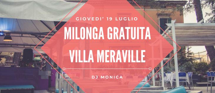 Tango Meraville – Milonga estiva a Bologna – 19 luglio 2018