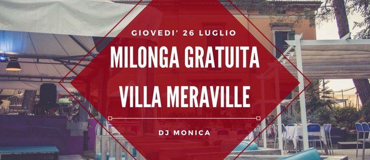Tango Meraville – Milonga estiva a Bologna – 26 luglio 2018