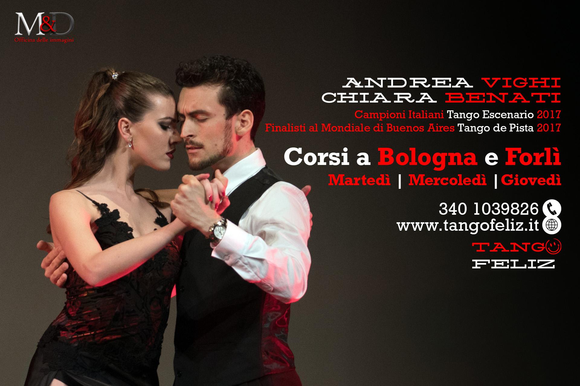 corsi di tango a Bologna con Andrea Vighi y Chiara Benati Tango Feliz
