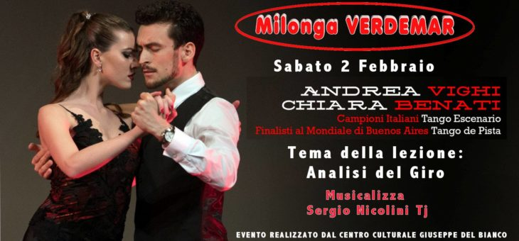 Stage sul giro del Tango – Milonga Verdemar