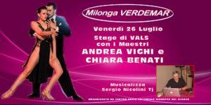 Milonga Verdemar stage di Vals con Andrea Vighi e Chiara Benati