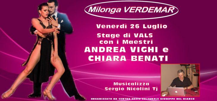 Milonga Verdemar – stage di Vals con Andrea Vighi e Chiara Benati